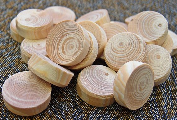 Wooden Circles Unfinished 10 pcs  Different Sizes by GeoSpyorg