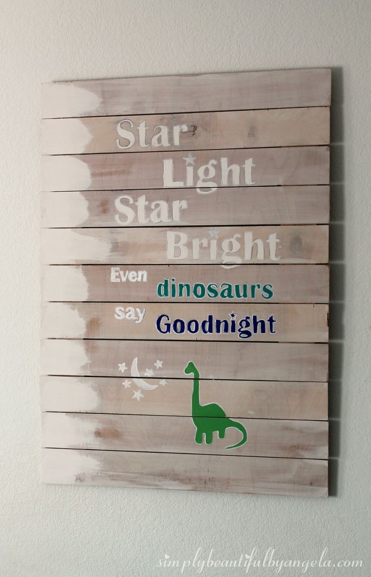 Simply Beautiful by Angela: DIY Dinosaur Plank Art and How to Paint Letters on Wood