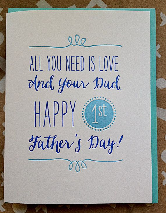 Father's+Day+Card+for+New+Dad.+First+Father's+Day.++All+by+jdeluce,+$5.50
