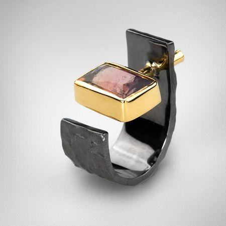 Tourmaline and sapphire--German Kabirski