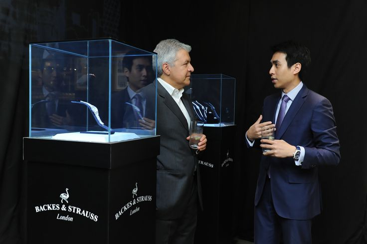 CEO Mr Vartkess Knadjian conversing with Mr Kingston Chu, Vice Chairman of Sincere Watch Ltd.