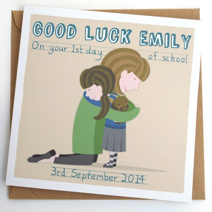 First Day of School personalised card By Doodlebump