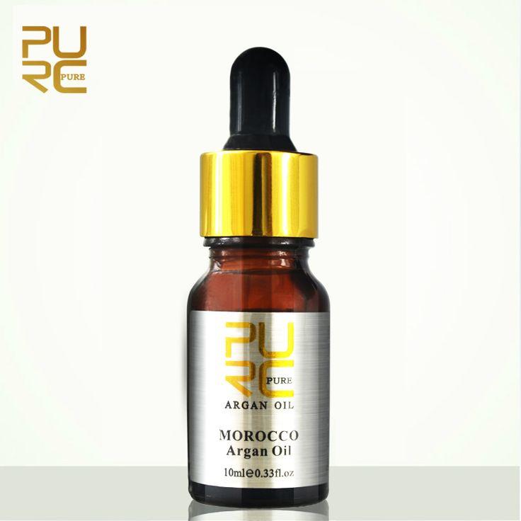 PURC Moroccan pure argan oil for hair care 10ml Hair Oil treatment for all hair types Hair Scalp Treatment 11.11 PURE