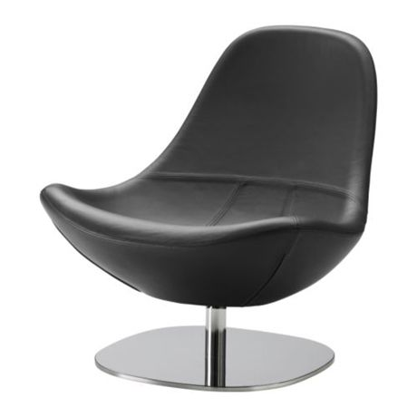 Ikea Tirup Leather Swivel Chair Leather swivel chair