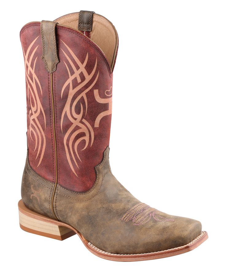 Love this Red Bomber Leather Hooey Boot - Women by Twisted X Boots on #zulily! #zulilyfinds