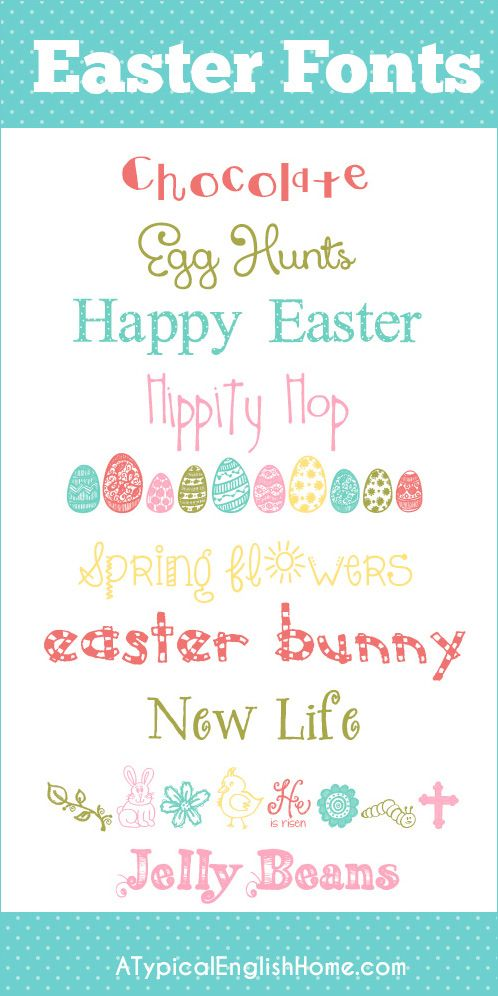 Easter Fonts! We're going to need these soon! #freefonts #easter