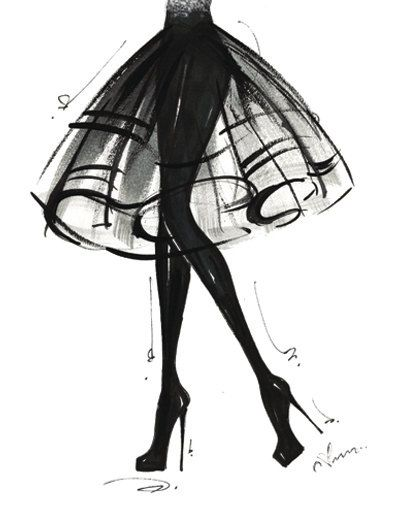 Fashion Illustration Print LBD by anumt on Etsy, $23.00