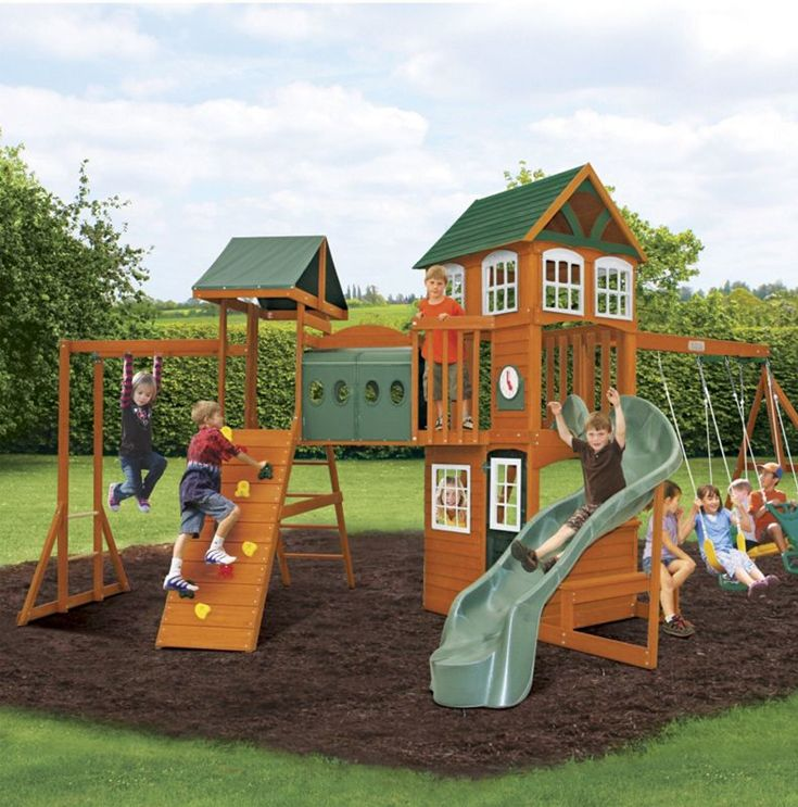 Outdoor Play! How fun is this massive play system?