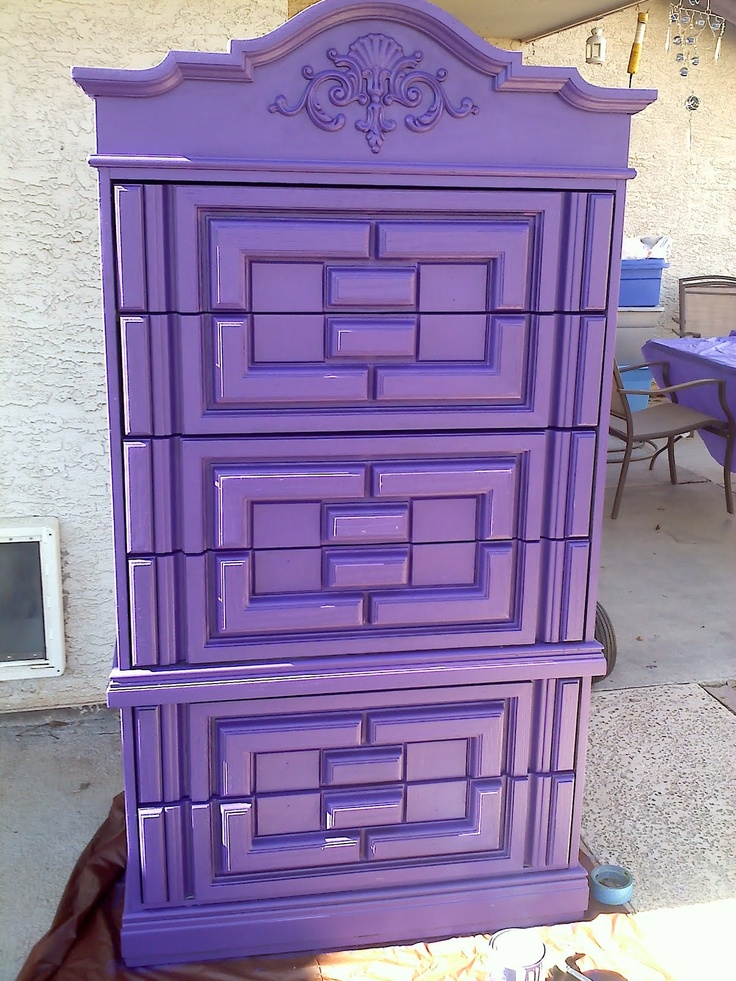 Purple chest ~ oh this is to die for...this is so beautiful, color, carvings and all.  Thanks!
