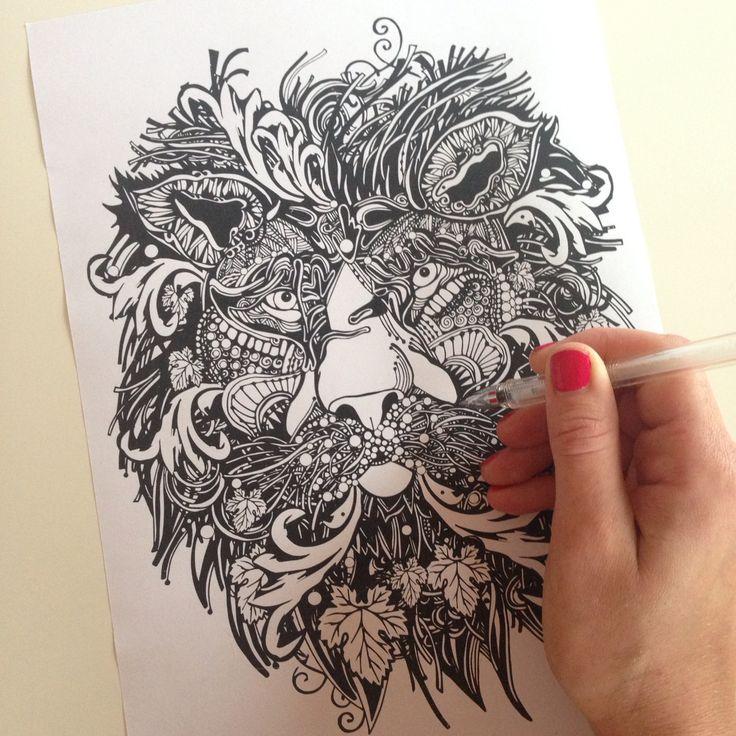It's better to be a lion for a day than a sheep for all your life! Новинки футболок от Julia Grad появятся в октябре на Sundarina Market в Екатеринбурге. autumnleaves  #лев  #leaves  #fall  #autumn  #рисунок  #эскиз  #эскизытату  #эскизыназаказ  #рисовашки  #татуировка  #lion  #lionhead  #lionking  #leo  #leaf  #sketch  #tattooart  #tattoo  #design