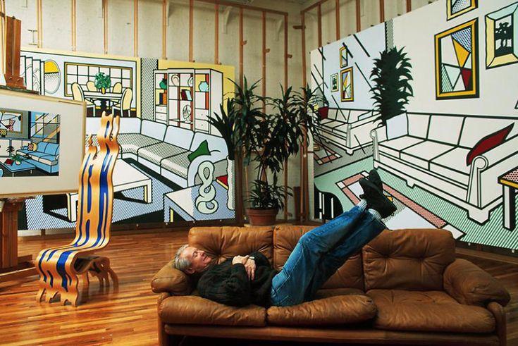 Рой Лихтенштейн «Мне нравится делать вид, что моё искусство не имеет ничего общего со мной», — сказал однажды американский представитель поп-арта Рой Лихтенштейн. Судя по фото ниже, он был тем ещё сибаритом...