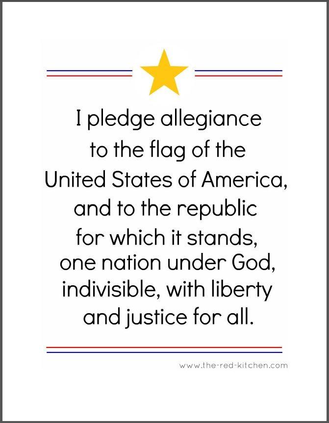 Pledge of Allegiance Printable | ... practice The Pledge of Allegiance too? Get the free printable HERE
