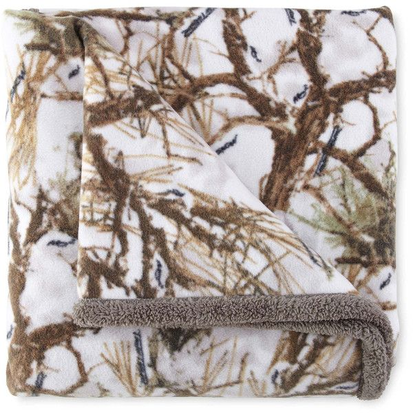 Scene Weaver™ True Timber Camo Sherpa Fleece Throw ($60) ❤ liked on Polyvore featuring home, bed & bath, bedding, blankets, fleece throw, camo fleece throw, fleece blanket throw, outdoor blanket and camo blankets