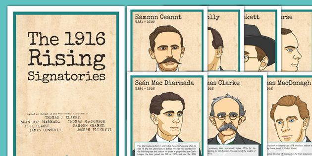 1916 Rising Signatories Fact Files Posters - Easter 1916 Rising, irish history, fact files, signatories, display posters