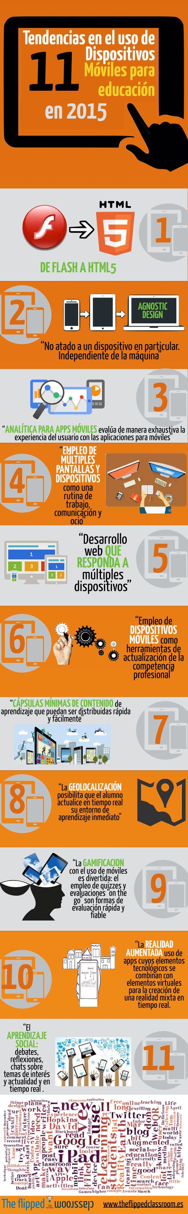 11 Tendencias sobre Dispositivos Móviles en Educación #infografia #infographic #education