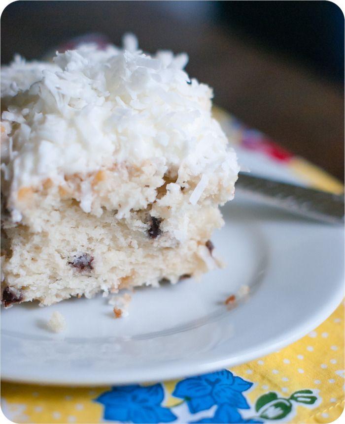 Dessert Recipe: Chocolate Chip Coconut Cake