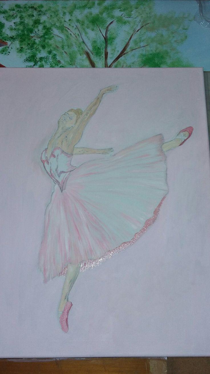 Our ballerina. ...the beginning!