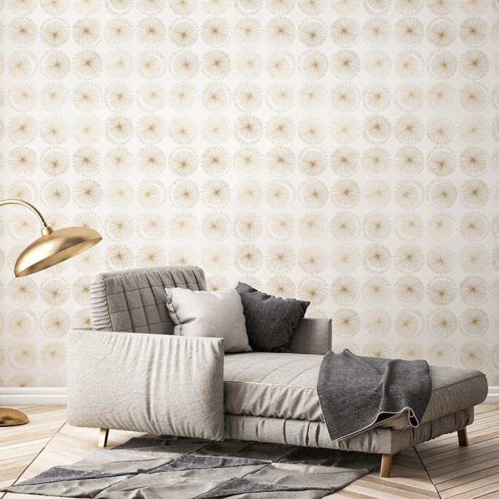 Goodbye Moon Removable Wallpaper Gold Removable Wallpaper Decor