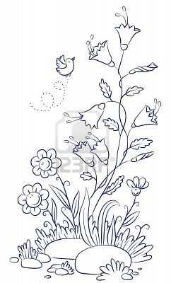 bird and flower doodle