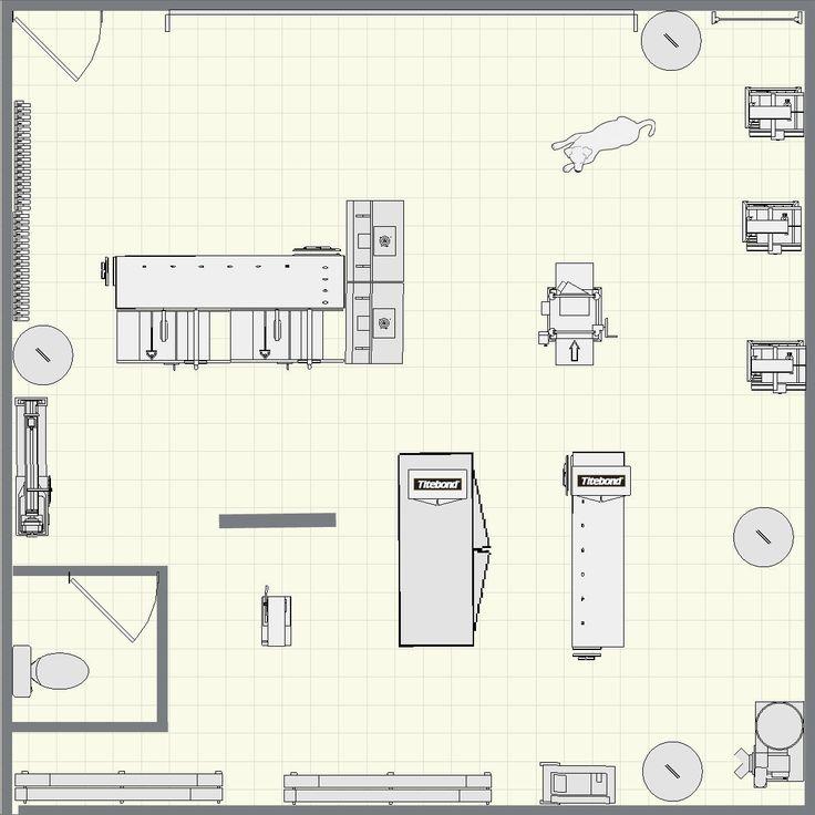 25 unique woodworking shop layout ideas on pinterest for Woodshop design layout