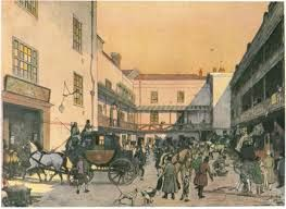 The Swan with Two Necks in Lads Lane, London, where Eagle and Lucas alight on their desperate mission.
