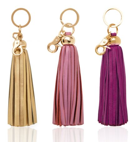 Tassel key chains from Russell + Hazel - they also have business card holders and cases!