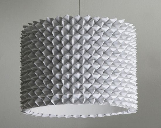 DIY light, make your own faceted paper pendant light from the 3 R's blog