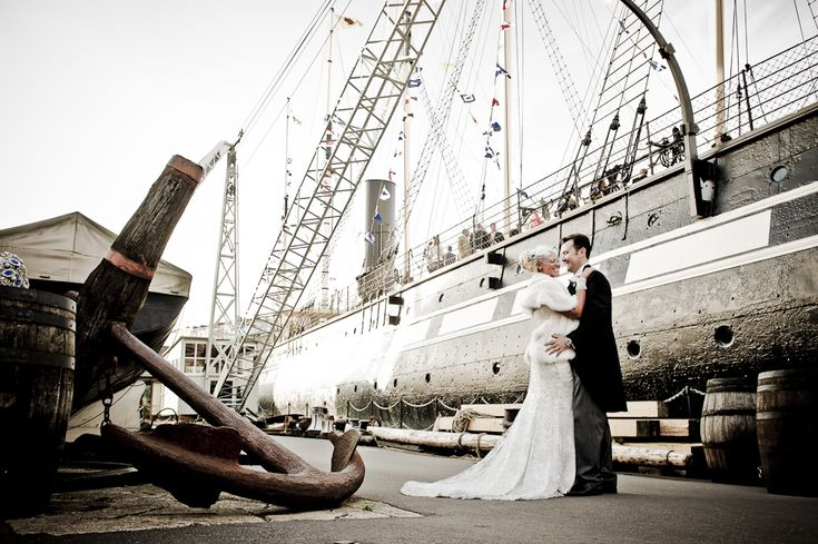 SS Great Britain, Bristol - Beautiful bride with groom...