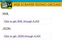 TEST DRIVE: AJAX. The new Web Scraper Testing Drive Stage is on, the AJAX upload. Here we'll check if the scrapers are able to extract the AJAX supplied data. This is simply not an easy task for the scraper software.