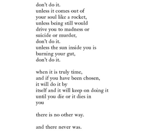 """Charles Bukowski, """"So You Want to be a..."""""""