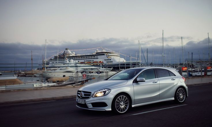 The new A-Class with stuntwoman Anni Nagel at the wheel in Palma de Mallorca.