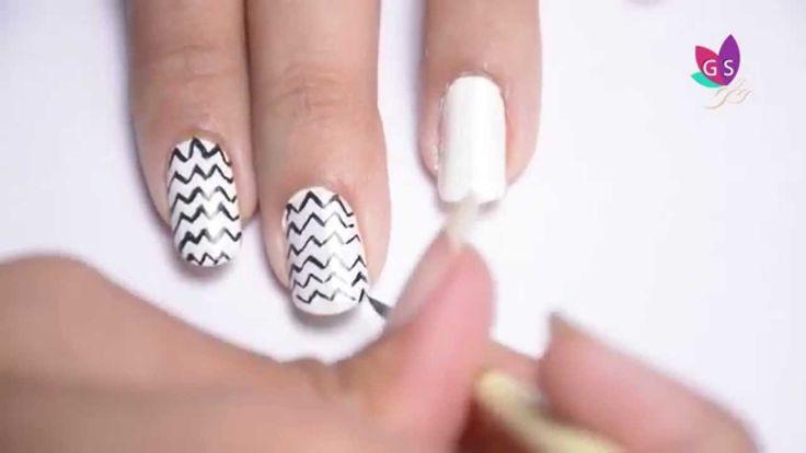 DIY Chevron Nails Art Design with Tutorial