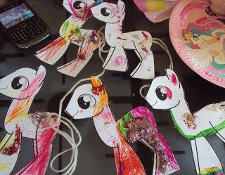 My Little Pony party activity - cut out these pony templates for the kids to colour in