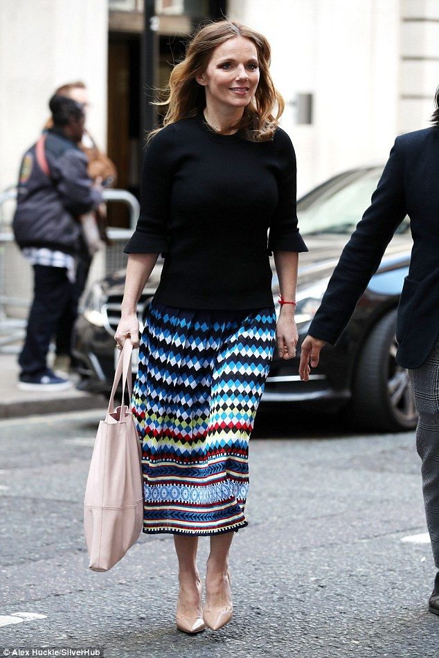 Spicy mama: Geri Horner, who gave birth in January, showed off her trim post-pregnancy fig...