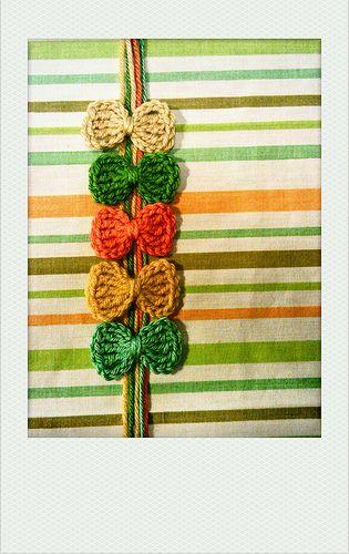 super simple crochet bows #crochet