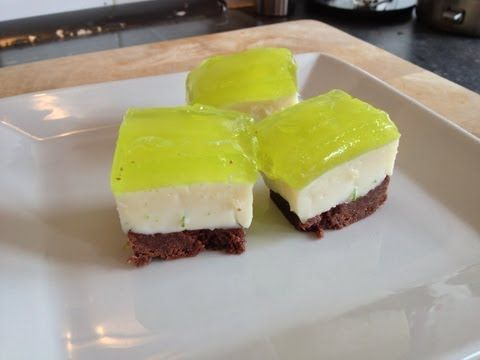 A recipe video on how to make a jelly slice with a chocolate lime twist - great party food, an attempt at an Australian classic