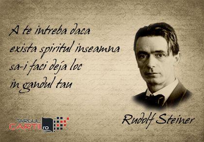 TargulCartii.ro va recomanda Rudolf Steiner!  http://www.targulcartii.ro/rudolf-steiner