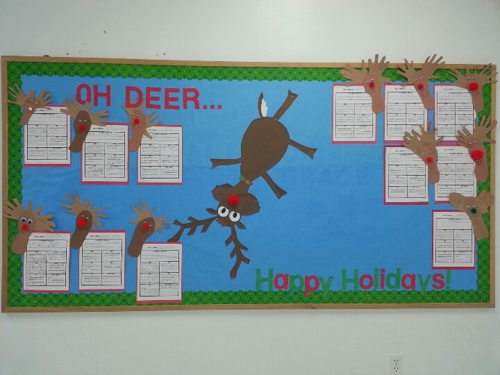 Holiday Bulletin Board From Pinterest Door Idea Holiday