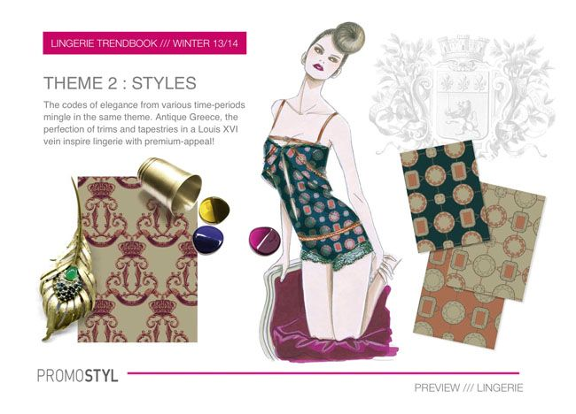 Promostyl Fall 2013 Lingerie Trend Preview: Styles