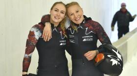 Kaillie Humphries et Melissa Lotholz se sont propulsées vers un autre podium de coupe du monde de bobsleigh alors qu'elles...