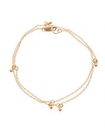 Petite Grand Gold Wrap around 6 drop bracelet