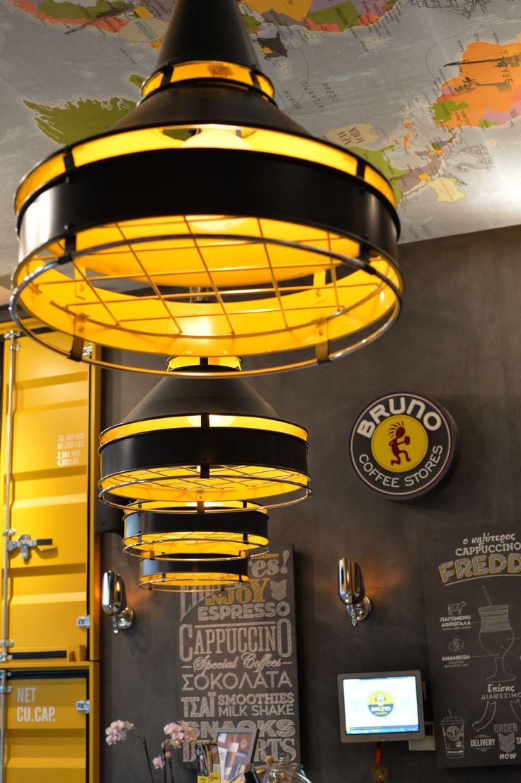 bruno coffe stores by Dimitris Koukoudis architect