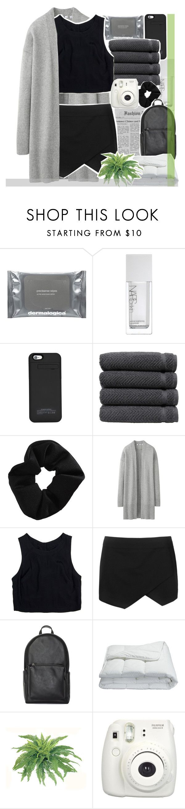 """""""⠀⠀⠀THROUGH THE CURTAINS OF THE WATERFALL"""" by oreokk22 ❤ liked on Polyvore featuring Dermalogica, NARS Cosmetics, Linum Home Textiles, Topshop, Uniqlo, Lush Clothing and Frette"""