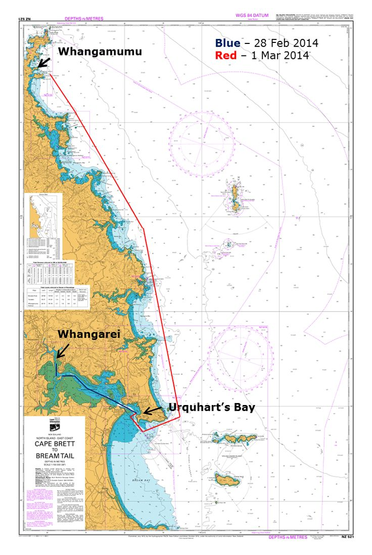 Hitting a new speed record from Whangarei to Whangamumu