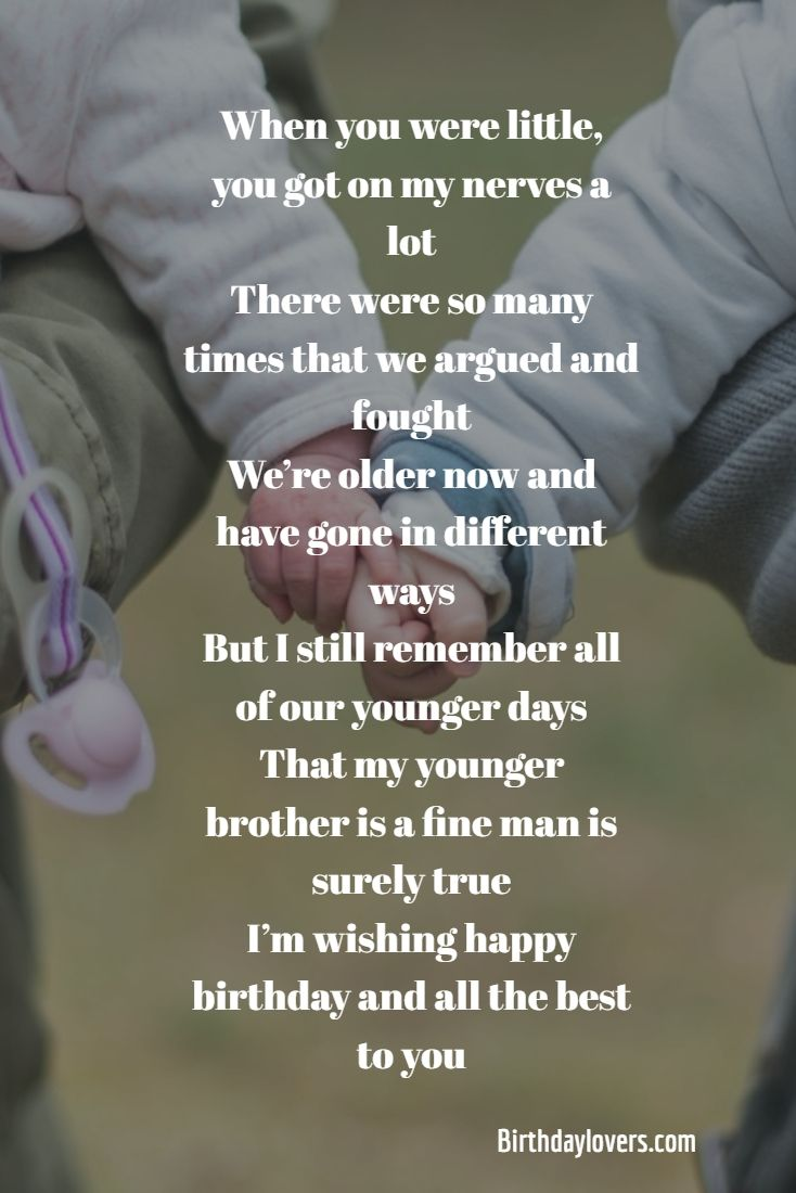 Birthday Quotes For Younger Brother For Birthday Party Birthday Ideas Make It Brother Birthday Quotes Best Brother Quotes Birthday Quotes Funny