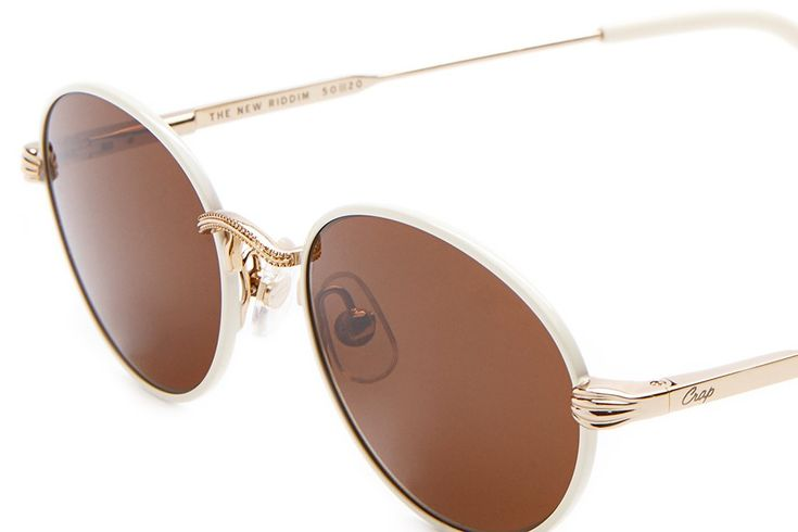 The New Riddim - Powder Coated Cream Rims & Cream Tips - w/ Base 4 Amber CR-39 Lenses - Sunglasses