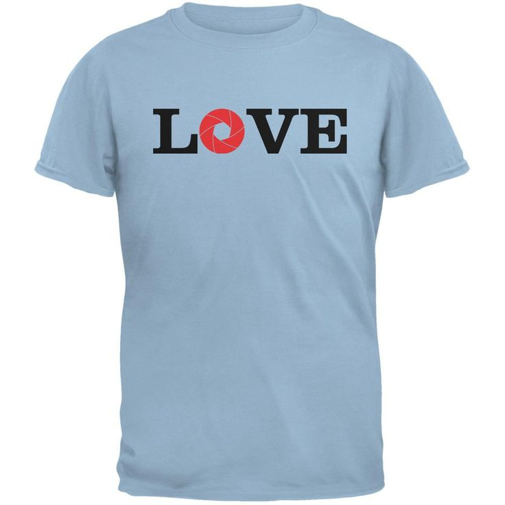 Photography Love Aperture Light Blue Adult T-Shirt