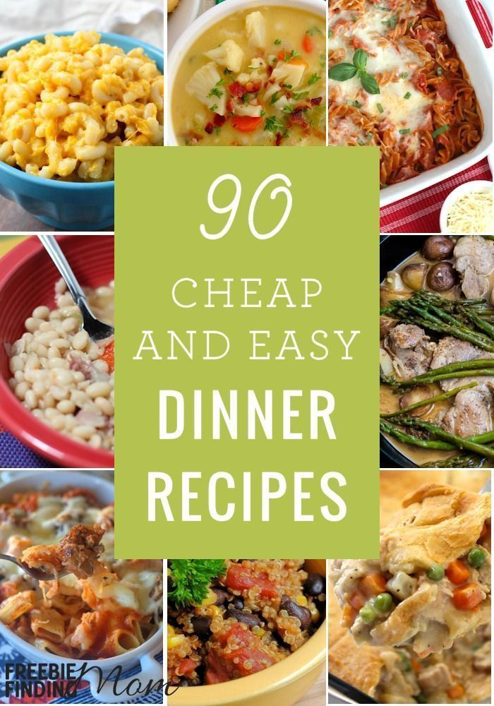 Need cheap and easy family meals? Here are 90 Cheap Quick Easy Dinner Recipes that will help you get a delicious and nutritious budget friendly meal on the table fast. You'll find recipes using ground beef, quick healthy turkey recipes, quick vegetarian recipes, cheap meals with chicken, and ham recipes. Quick easy healthy budget recipes hard to find? We got ya covered!