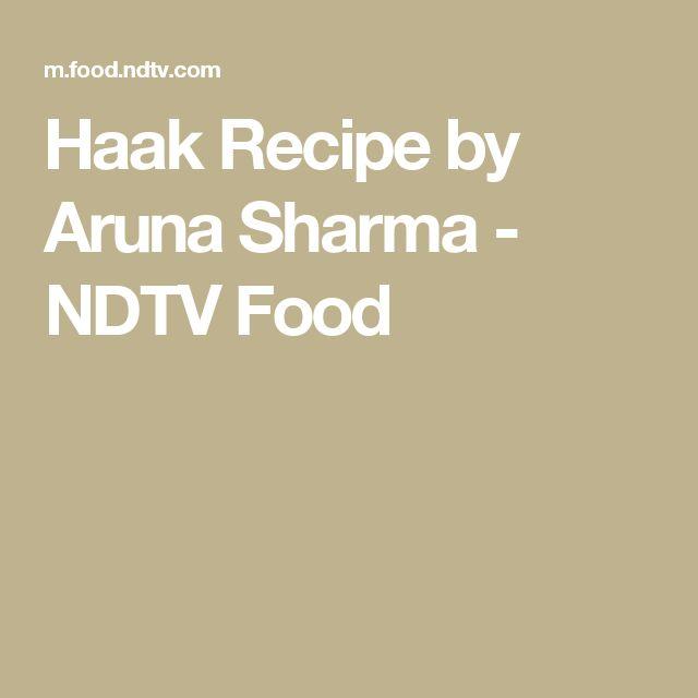 Haak Recipe by Aruna Sharma - NDTV Food