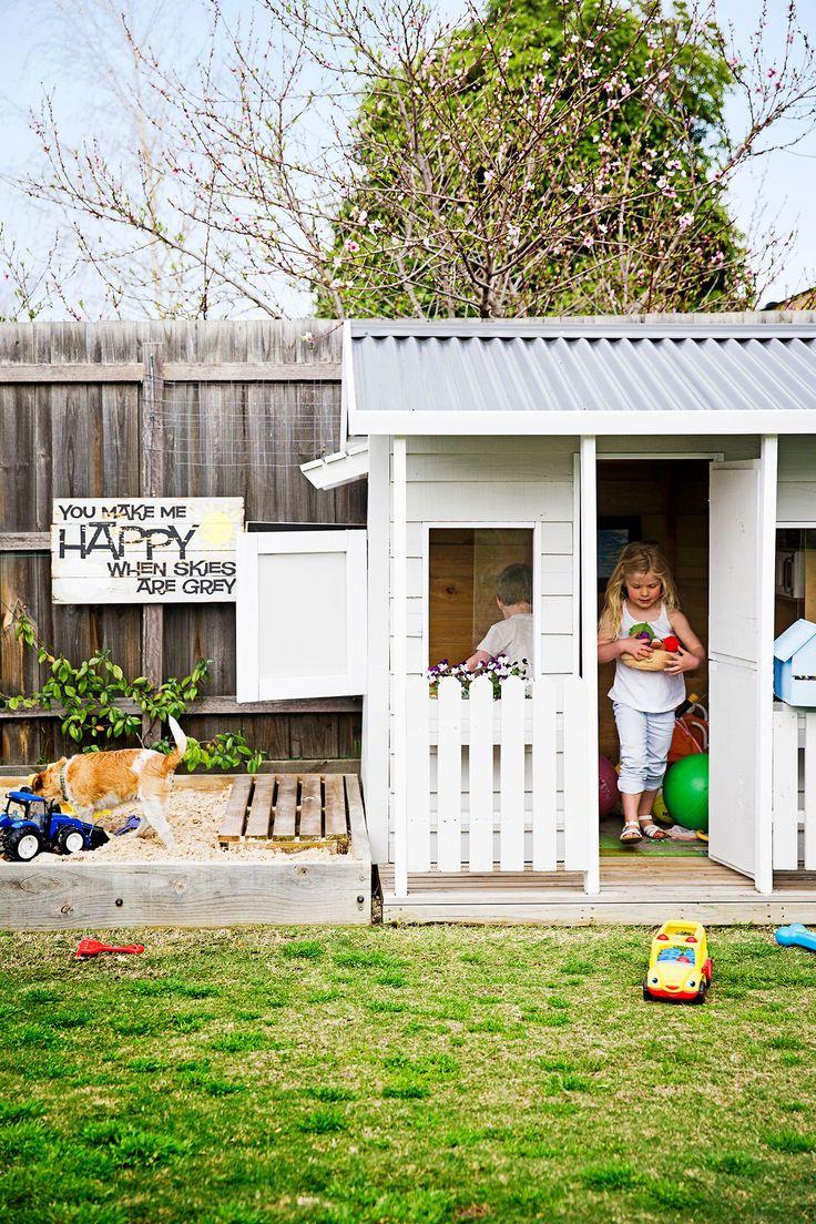 cubby house & sandpit.